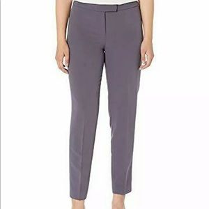 ANNE KLEIN Womens Gray Zippered Pants Size: 6
